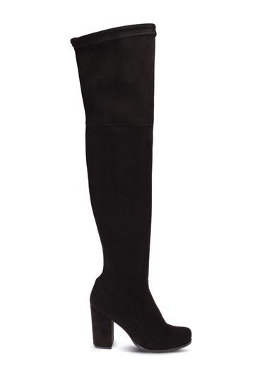 Deery Hakiki Deri Çizme Siyah